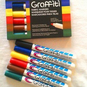 Primary Set - Graffiti Fabric Markers