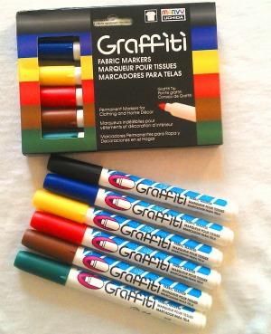 Primary Set - Graffiti Fabric Markers
