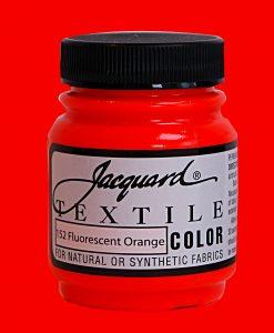 Fluorescent Orange - Fabric Paint