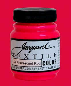 Fluorescent Red - Fabric Paint