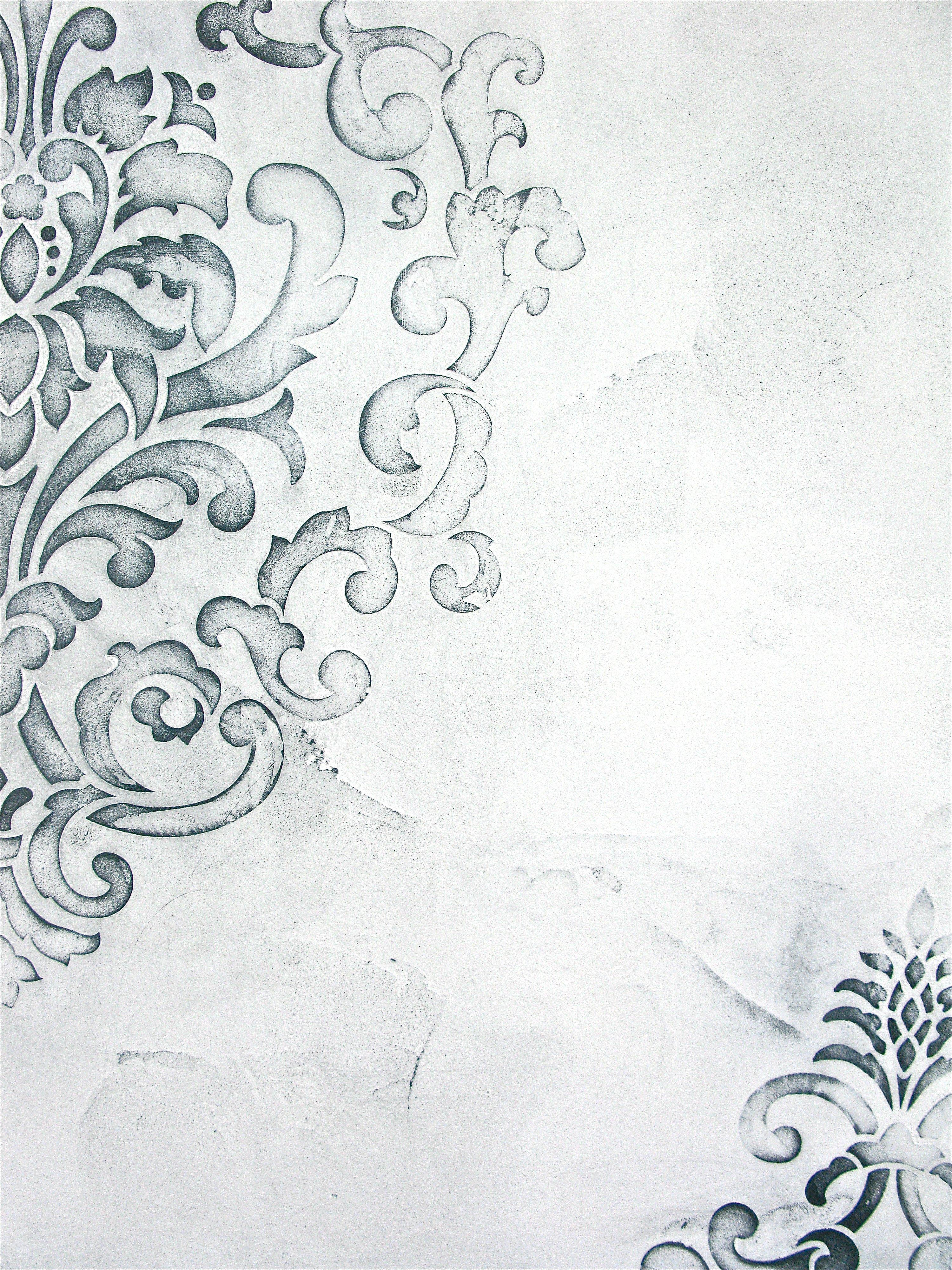 Textured White Stencil Spray Paint Fabric Spray Ireland