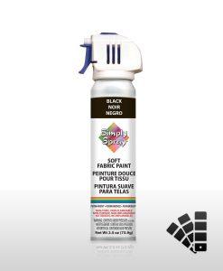 Black - Fabric Spray Paint