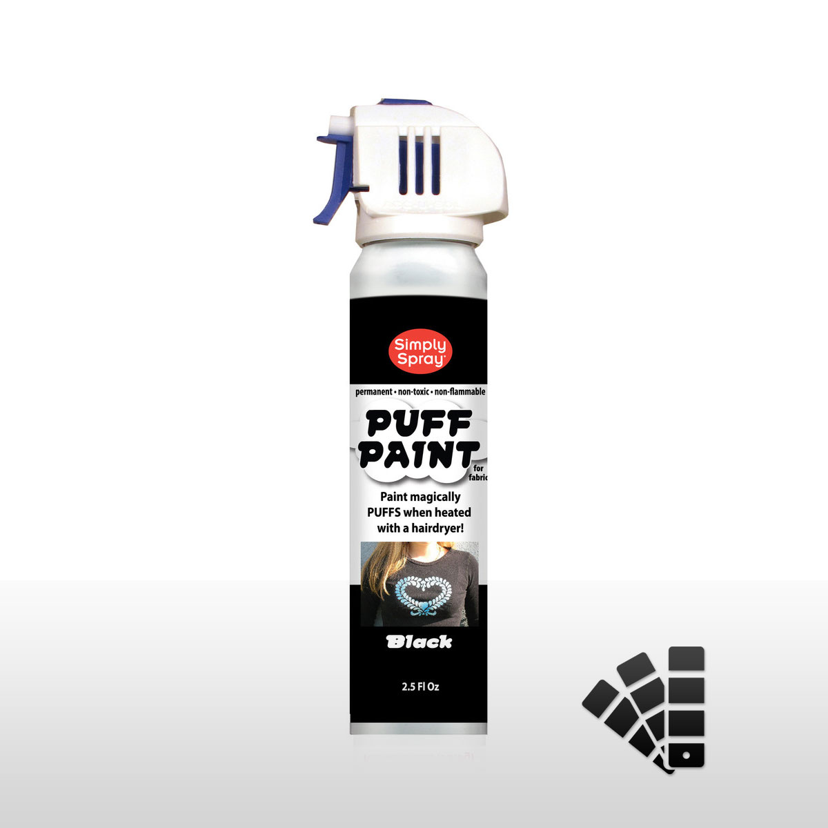 Puff Paint Black - Fabric Paint