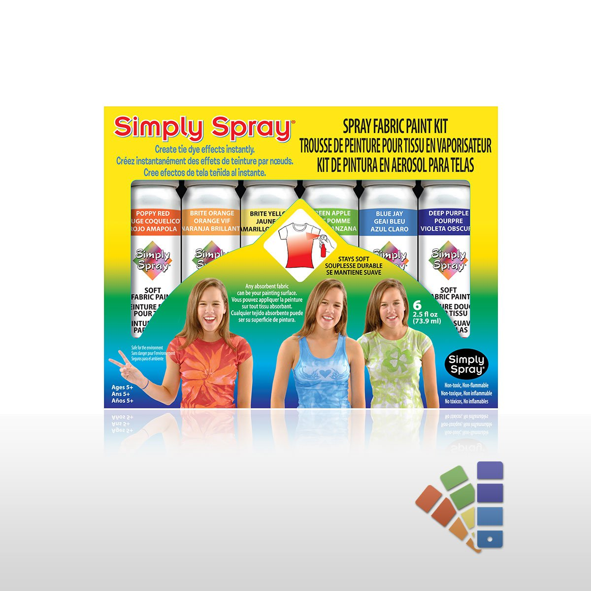 Fabric Spray Party Pack - 6 Cans - Fabric Paint