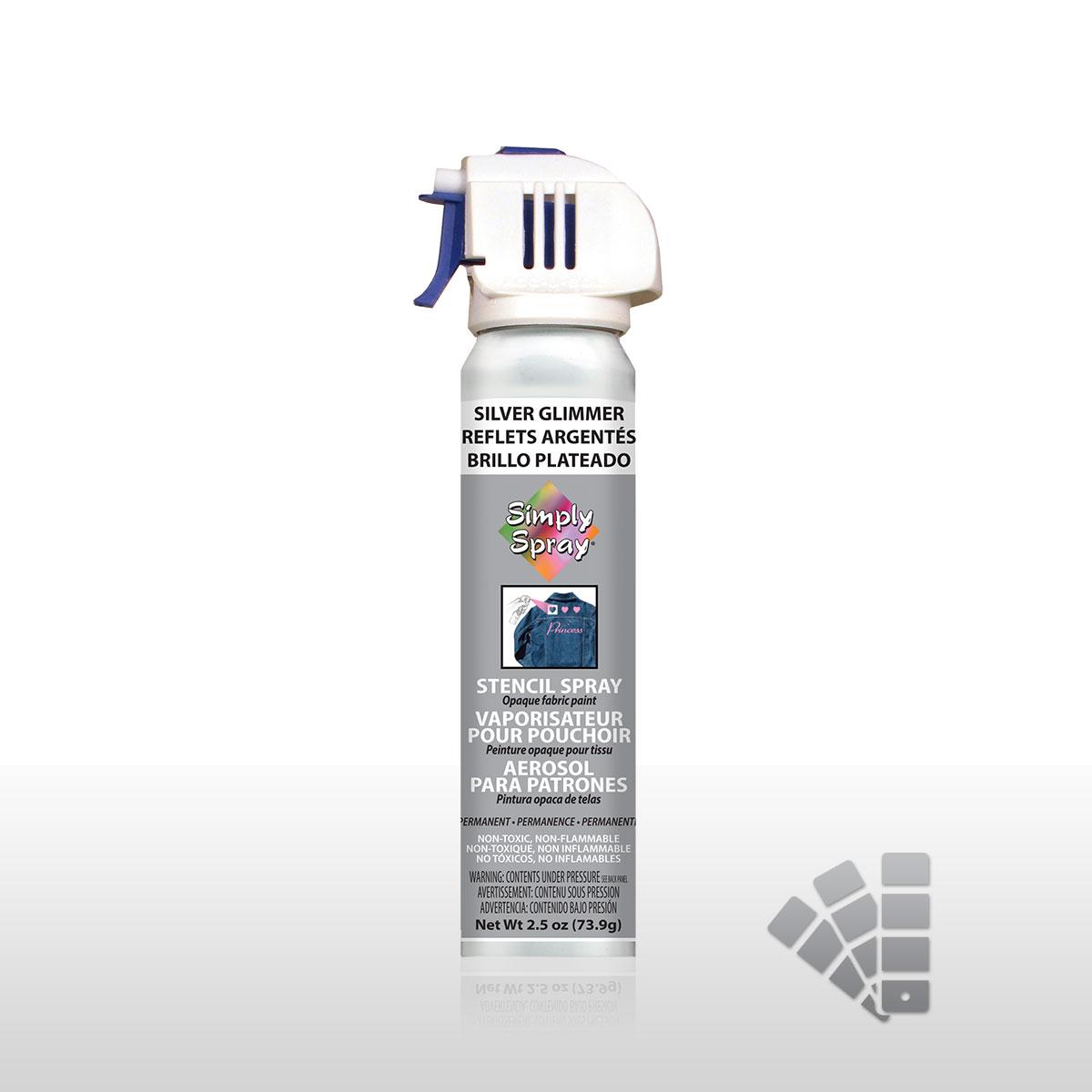Silver Glimmer - Stencil Spray Paint
